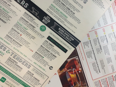 The Dish On Laminated Menus: Attractive, Durable & Cost-Effective